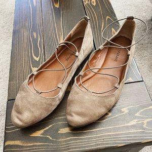 Lucky Brand Aviee Leather Ballet Flats 11M